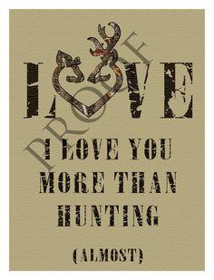 Humorous Hunting Browning Heart Valentine's Day Wedding Engagement Anniversary Wine Label