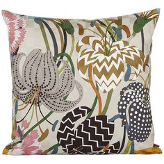 Missoni Home Raman Cushion - 100 - 40x40cm (€170) ❤ liked on Polyvore featuring home, home decor, throw pillows, multi, floral throw pillows, floral home decor, missoni home и patterned throw pillows