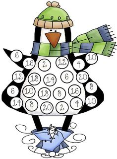 Penguin Cover Up. Roll 2 dice and us a Dot Art marker to color in the sum. Keep going until he's all colored in! Oh my gooooddnessss. Preschool Math, Math Classroom, Kindergarten Math, Fun Math, Math Games, Classroom Activities, Teaching Math, Dice Games, Winter Fun