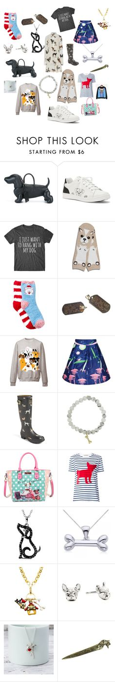 """""""Passion for Puppies"""" by passion-for-pink ❤ liked on Polyvore featuring Thom Browne, ED Ellen DeGeneres, STELLA McCARTNEY, Corgi, Free Press, Donna Karan, Lowie, Joules, Sydney Evan and Nicole Lee"""