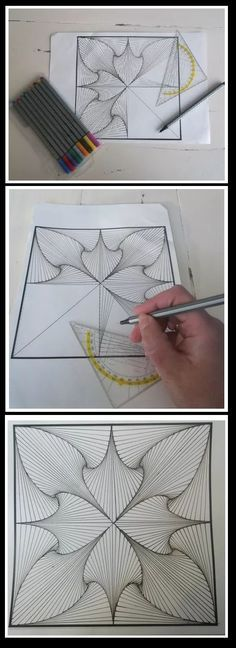 This reminds me of string art. The lines create form.