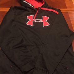 Men's Under Armour Hooded Sweatshirt-Black Men's Under Armour Hooded Sweatshirt- lightly used- black Under Armour Tops Sweatshirts & Hoodies