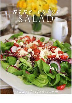 Spring Salad - The Nine Color Salad