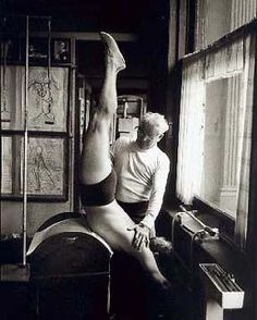 vintage: Joseph Pilates, working it
