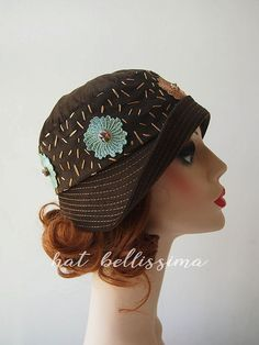 Coffee 1920's Cloche Hat Vintage Style hat by hatbellissima