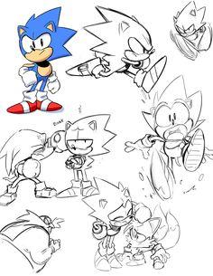 tysonhesse:  Some Sonic practice sketches