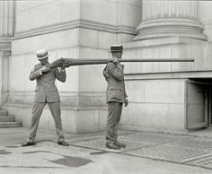 "This is a ""Punt Gun"" It was used for duck hunting and could kill 50 birds at once. It was banned in the late 1860's."