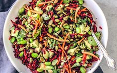 Bright Beet Salad With Quinoa In a Citrus Vinaigrette [Vegan, Gluten-Free] - One Green PlanetOne Green Planet Detox Recipes, Salad Recipes, Vegan Recipes, Vegan Food, Free Recipes, Vegan Bread, Meatless Recipes, Vegetarian Dinners, Vegan Meals