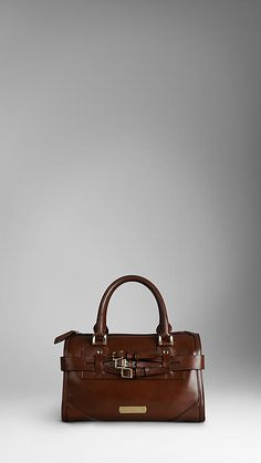 Burberry Belt detail leather tote bag F/W 2012-2013