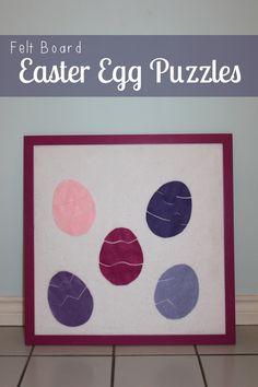 Felt Board Easter Egg Puzzles | Mama.Papa.Bubba.