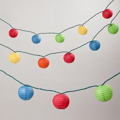 One of my favorite discoveries at WorldMarket.com: Multi-Color Paper 10 Bulb String Lights