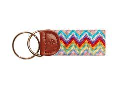 How about the lovely Zig Zag Needlepoint Key Fob from Smathers & Branson?? #AshworthPrimandProperLoves