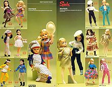 Sindy The UK version of Barbie, who was a bit tarty for little British girls.I loved my Sindy dolls