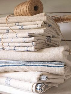Even though I use paper towels I still have a collection of kitchen towels and that's what I always grab first ~