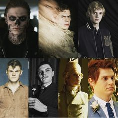 WHO is your favorite Evan Peters' AHS Character so far (Seasons 1-6). Very hard to pick but my Top 3 would be Mr. March, Tate and Kit! Follow rickysturn/evan-peters