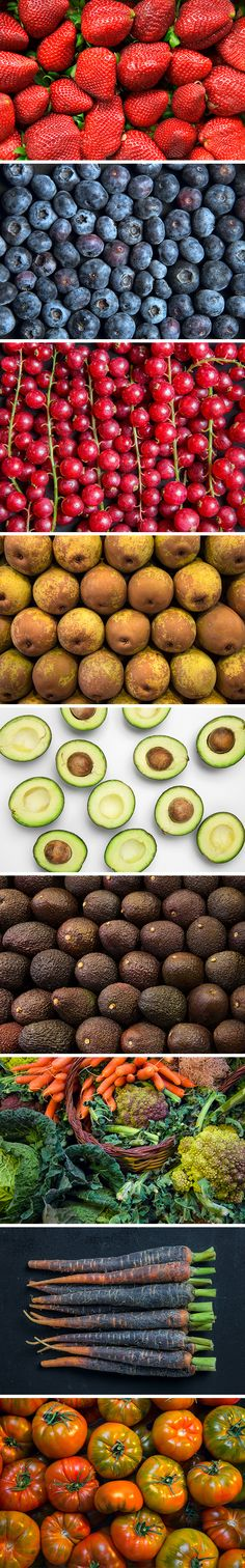 I've prepared for you a small collection of 9 high-resolution photos of appetizing fresh fruits and vegetables...