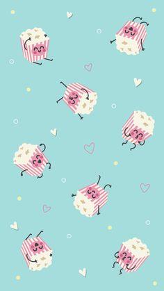 Cute Wallpaper Backgrounds, Cute Cartoon Wallpapers, Pretty Wallpapers, Aesthetic Iphone Wallpaper, Screen Wallpaper, Cute Wallpaper For Phone, Summer Wallpaper, Kawaii Wallpaper, Kawaii Background