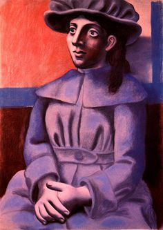 Girl in a hat with her arms crossed - Pablo Picasso