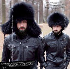 9a2f607adde Black raccoon ushanka - Men s fur hat - russian fur store