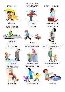 Schede didattiche di azioni - Baby-flash | Istruzione ...