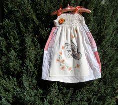 Vintage Tablecloth Butterfly Dress Size 4 to 5. $35.00, via Etsy.