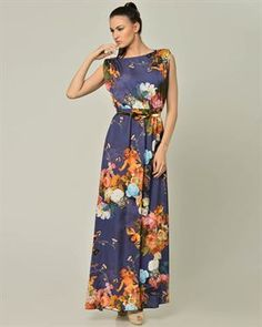 Carla Giannini Floral Print Dress Made In Italy