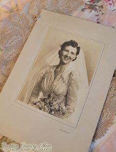 Criativa País Mom: Três novas fotografias do casamento do vintage e Flea Market Friday # 8