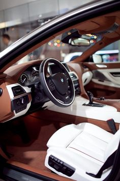 "hespiration:  ""#BMW with #white #seats #car #hespiration  """