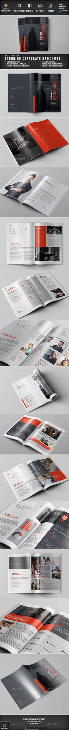 Brochure by ashuras_sharif Stunning Brochure Template 24 Pages Document, Two Different Sizes A4 and US Letter. All units and text are layered to customize ea
