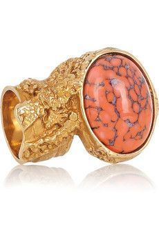 Yves Saint Laurent | Arty Gold-plated Glass Ring