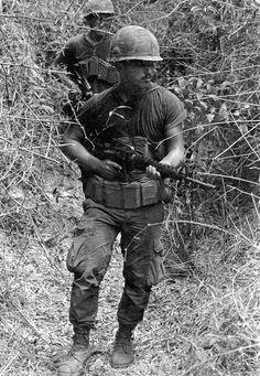 Soldiers on patrol. - Vietnam War. #VietnamWarMemories