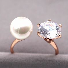 Cheap ring elephant, Buy Quality ring box jewelry directly from China ring jewelry case Suppliers:                    Double layer white/rose gold plated ring women bijoux adjustable f