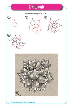Drawing Doodles Ideas Creative Doodling: The Art of Zentangle. Ideas for your Zentangle and Zendoodle projects. Design ideas for creative and art projects. Ukkepuk by Nicole Dreyer - Dibujos Zentangle Art, Zentangle Drawings, Doodles Zentangles, Doodle Drawings, Tangle Doodle, Zen Doodle, Doodle Art, Doodle Patterns, Zentangle Patterns