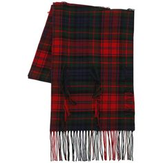 Burberry Women Filcoupe Tartan Wool & Cashmere Scarf (3.110 RON) ❤ liked on Polyvore featuring accessories, scarves, red, burberry, burberry scarves, burberry shawl, red plaid shawl and wool plaid scarves