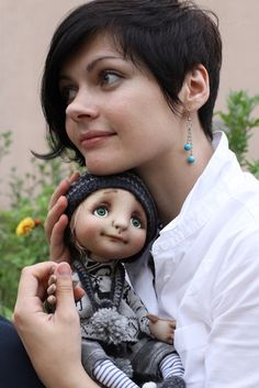 Catherine Sparrow with her doll