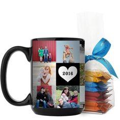 Love Grid Mug, Black, with Ghirardelli Minis, 15 oz, Black