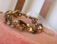 1940s bracelet missing a few smaller rhinestones $45