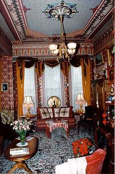 victorian sitting room | Turkish Sitting Room , one of three parlors, screens silent movies in ...