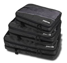 SteadyTrek Travel Packing Cubes - 3-Piece Set with Dual Compartment Organizers -- Check this awesome product by going to the link at the image.