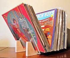 Vinyl Record Storage Stand by SemakGoods on Etsy