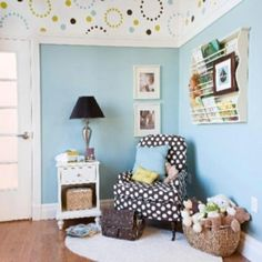 Ive become obsessed with nursery design since my sister is having a baby! This is cute and modern without being over the top!! home-sweet-home baby-design-toys