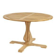 Ceylon Teak Round Pedestal Dining Table - 48 inch