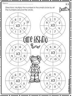 3rd Grade Math: Multiplication Worksheets: Mazes, Targets