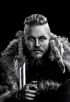 Ragnar Lothbrok Vikings, Ragnar Lothbrok Haircut, The Vikings, Vikings Show, Ragnar Lothbrook, Viking Drawings, Viking Wallpaper, Vikings Travis Fimmel, Arte Black