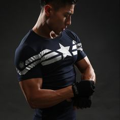 Captain America Star Compression Shirt – Novelty Force - Check it out while it's on sale too!