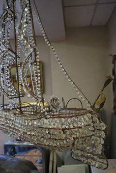 Italian Crystal Ship Chandelier 6