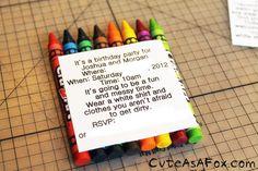 Cute As a Fox: Art Party: Invitations