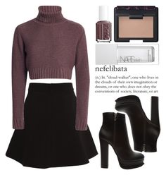 """""""October 24th, 2015"""" by andystyles ❤ liked on Polyvore featuring Bardot, Forever 21, NARS Cosmetics and Essie"""