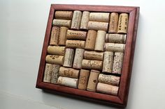 Wine Cork Trivet  Reclaimed wood DIY craft kit