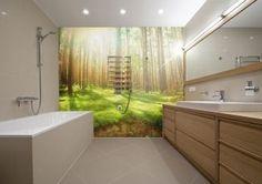 fotobehangpapier in de badkamer #natuur
